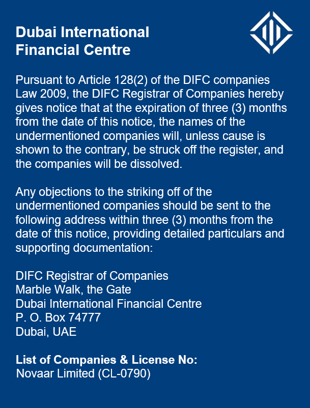 Notices | Dubai International Financial Centre (DIFC)